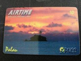 PALAU $10,- Prepaid Card Fine Used R Palau SUNSET   ** 1957** - Palau