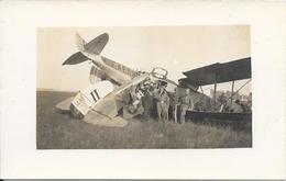 Belle Carte-photo Collision Au Sol à Chalon Sur Saône, En 1922 (voir Indications Apportées Dans La Question Posée) - Accidents