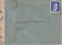 ALLEMAGNE 1944 LETTRE CENSUREE DE OBER LAZISK - Cartas