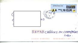 Lettre Cachet Gentilly Sur Vignette AA - 2000 «Avions En Papier»