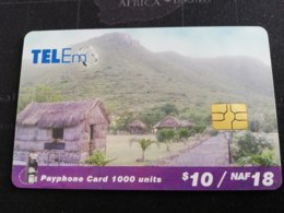 St MAARTEN $10 - ST MAARTEN  CHIPCARD TEL/EM NAF 18,-    Used Card   ** 1961 ** - Antille (Olandesi)