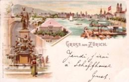 Suisse -  Gruss Aus ZURICH - 1897 - ZH Zurich
