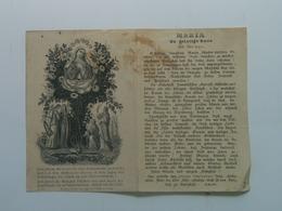 Holy Card 2 Santini Heilgenbild Holycard Images Pieuse Religieuse Image Epinal  Maria Mary 1850 C.Rudl Nr 347 Praha - Andachtsbilder
