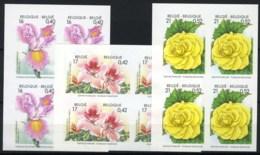 België 2903/05 ON - Bloemen - Gentse Floraliën X -  In Blok Van 4 - Met Hoekbladboord - SUP - Ongetande