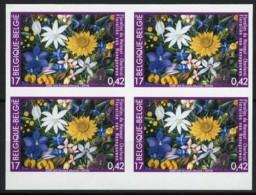 België 2935 ON - Bloemen - Floraliën Van Henegouwen - In Blok Van 4 - Ongetande