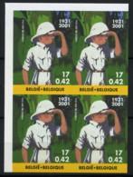 België 3048 ON - Strips - BD - Kuifje In Afrika - Tintin Au Congo - Dem. Rep. Congo - ZELDZAAM In Blok Van 4 - SUP - Belgique