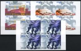 België 3058/60 ON - Brugge 2002 - Culturele Hoofdstad Van Europa - In Blok Van 4 - Ongetande
