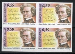België 3156 ON - 200 Jaar Hector Berlioz - Componist -  In Blok Van 4 - Ongetande