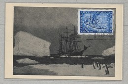 """Rou23 - ARGENTINE PO538 Du 8 Octobre 1954, 1er Jour Sur Carte """" LA URUGUAY """" Sauvetage De L'  """"ANTARTIC"""". - Argentina"""