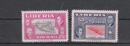 Libéria YT PA 64/5 * : Carte De Monrovia Et Côte Du Libéria - 1952 - Liberia