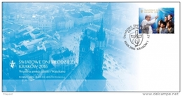 Poland  2016 Worth Youth Day Pope Francis Joint Issue With Vatican Post FDC - 1944-.... Republic