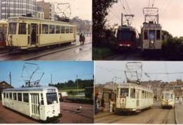 20 FOTOS TRAMS BUURTSPOORWEGEN-CHEMIN DE FER VICINAUX-PROV.HENEGOUWEN-PR.HAINAUT-LIGNE 90+92- - Fotos