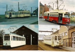20 FOTOS TRAM BUURTSPOORWEGEN -CHEMIN DE FER VICINAUX-PR.HENEGOUWEN-PR.HAINAUT LIGNE 50-69 - Photos