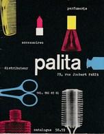 CATALOGUE PALITA PARFUMERIE ACCESSOIRES 1958-1959 - Perfumes & Belleza