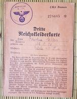 Dritte Reichskleiderkarte LWA Bremen, Gemeinde Hude, - Documenti