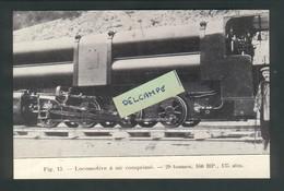 Ligne Frasne-Vallorbe  Construction Du Tunnel Du Mt D'Or -Locomotive à Air Comprimé - 29 Tonnes - Reproduction - Non Classificati