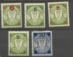 Danzig  1934  Mi.Nr. 240-242 Coat Of Arms 6/7 Pfg . - 30 Pfg .set Mint Hinged X - Danzig