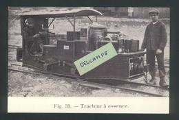 Ligne Frasne-Vallorbe  Construction Du Tunnel Du Mt D'Or -Tracteur à Essence - Reproduction - Non Classificati