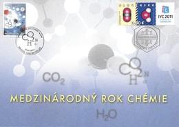 Belgium Belgique Belgien Slovakia Slovaquie 2011 Joint Souvenir Card 1st Day Year Of Cemistry Michel No. 4142 + 652 - Emissions Communes