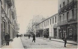 SETE ( CETTE ) : Rue Nationale Et  Ses Commerces - Cliché Peu Courant - Sete (Cette)