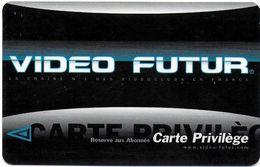 VIDÉO FUTUR CARTE ABONNEMENT CARTE PRIVILÈGE - Abonnement