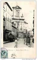 58 NIEVRE Attelage Et Animation Devant L'église Saint-Pierre De NEVERS Carte Précurseur - Nevers