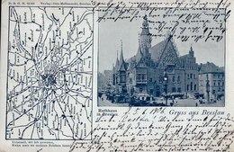 """Gruss Aus Breslau. Rathaus. 1906. """"Ueberall, Wo Ich Gewesen ..."""". (Wroclaw). - Pologne"""