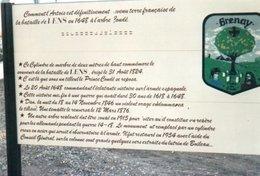 PHOTO 15 X 10 DE BULLY GRENAY L ARBRE DE CONDE LA BATAILLE DE LENS 1648 - France