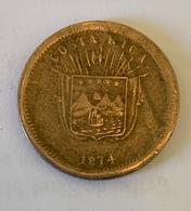 UN CENTAVO - 1874 - Cupronickel - 19mm- 3,8g `- Seulement Tirée Pour L'année 1874 à 32000 Ex TTB+ - Costa Rica