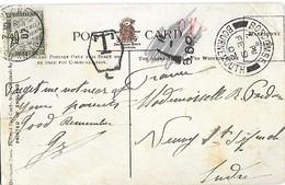 GRANDE-BRETAGNE - Carte Postale Taxée à 20c Avec N°31 - Cachet Hexagonal Avec Lettre T à L'intérieur - Golf Clubs Club - Covers & Documents