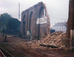 PHOTO 13 X 10 DE CALONNE RICOUART LA GARE DESTRUCTION - France