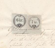 QUITTUNG 1860 - Handgeschrieben Rechnung Mit 6 + 7 Kreuzer Stempelmarke, A3 Format, Gefaltet, Gebrauchsspuren - Autriche