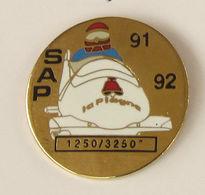 1 Pin's Sport D'Hiver Olympique Albertville BOBSLEIGH - LA PLAGNE 91/92 - 1250/3250° - Wintersport