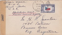ETATS UNIS ENVELOPE CIRCULEE DE HUNT A BUENOS AIRES, ARGENTINE ANNEE 1944 CENSURE - LILHU - Vereinigte Staaten