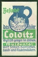 """COLDITZ Sachsen Muldental  ~1932 """" Besucht Colditz .... """" Vignette Cinderella Reklamemarke - Erinnophilie"""