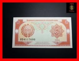 UZBEKISTAN 3 Som  1994  P. 74  UNC - Uzbekistan