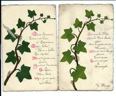 2 Cartes Anciennes Peintes - LIERRE (1916) - Correspondance Suzanne LIENARD - Soldat Serge LOBEL - Flores, Plantas & Arboles