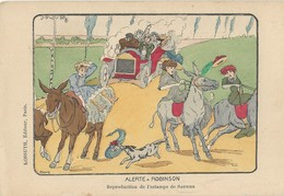 Illustrateur Kossulh      Alerte à Robinson         Estampe De Saunier   Anes - France