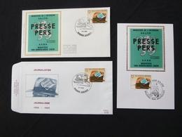 """BELG.1985 2158 FDC & Mcard Soie/zijde & FDC : """" Journalisme """" - 1981-90"""