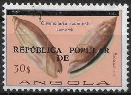 Angola – 1977 Shells Surcharged 30$ Used Stamp - Angola