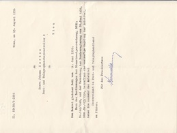 V1 - SCHREIBEN D.Post U. Telegr…., 1956 - Faire-part