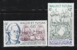 WALLIS Et FUTUNA - N°277/8 ** (1981)  Bataille De Yorktown - Neufs