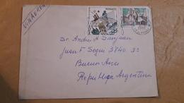 Enveloppe De Monaco Distribuée à Atgrntina Avec Un Timbre De Volley Et Autres - Volleyball