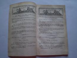 Lois An VIII:Sabre Latour D'Auvergne.Déportés De Guyane Sur Ile De Ré & D'Oléron.Roer,Sarre,Rhin,Moselle,Mont Tonnerre - Gesetze & Erlasse