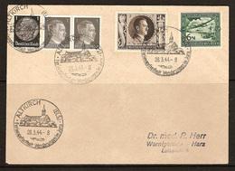 WW II - Briefumschlag Mit Sondermarke + Sonderstempel - Altkirch (ELS) Ferienaufenthalt Wanderungen Im Jura. 28/03/1944 - Germany