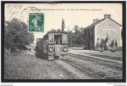 CPA 91 Saulx Les Chartreux La Gare Et Le Train Tramway - Arpajonnais - France