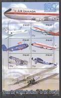 H685 PALAU TRANSPORTATION 100 YEARS OF AVIATION CELEBRATION 1KB MNH - Avions
