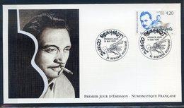 TIMBRE FRANCE...REF120520...DOCUMENT PHILATELIQUE 1ER JOUR ...14 Mai 1993 Diango Reinhardt - 1990-1999