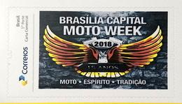 Brazil Personalized Stamp Pb 102 Brasilia Moto Week 2018 - Brasilien