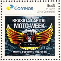 BRAZIL Selo Personalized PB 84 Brasilia Moto Week 2018 - Brasilien